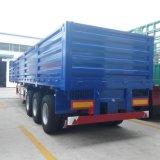 2 Funcations 40FT 3つの車軸容器および貨物のための半側面または側面の低下または側板のトラックのトレーラー