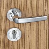 Fechamento de porta do Mortise da entrada da ferragem da porta com punho de alavanca e 3 mesmas chaves do bronze