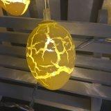 20のLEDイースターエッグのひびの卵の形ストリングライト
