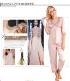 """Pijamas de seda Sy10308818 das mulheres """"sexy"""" do Nightwear da roupa de noite das senhoras da roupa interior"""