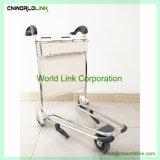 Carro de equipajes del aeropuerto de freno de aluminio con carretilla