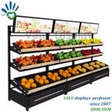 Plancha de metal supermercado frutas y hortalizas, estanterias Expositor inclinado (VM907).