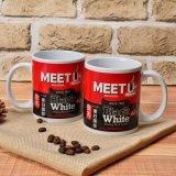 tasse 11oz en céramique avec l'impression d'Infortion de café pour la promotion