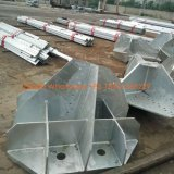 tour en acier de transport d'énergie de cornière de 110kv-500 kilovolt d'usine de production