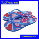 Solid Color Girl PE Flip Flops avec impression amoureuse