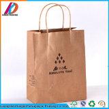 Sac de empaquetage de papier de Brown emballage d'usine d'impression et d'empaquetage