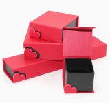 Cajas de joyería de perlas de papel roja