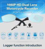 2.7 Zoll 1080P HD verdoppeln das Objektiv-Motorrad, das Schreiber fährt