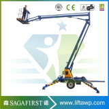 10m 12m Hydraulic Bucket Crane Cherry Picker Price
