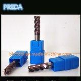 HRC60 4 flautas cortador para Titanium Procesamiento de aleación