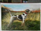 Pitture a olio Handmade del cane di caccia per la decorazione domestica