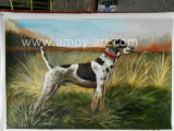 Chien de chasse dans les prairies de l'huile sur toile peintures pour la décoration