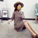 Twinsetの女性の服を編む方法女性のスーツのセーター衣類2部分の中国の