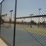 Frontière de sécurité de treillis métallique de court de tennis de maillon de chaîne, frontière de sécurité de cour de sport