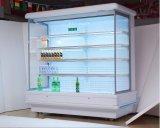 Abrir Multideck Chiller com cortina de ar tipo Vitrine Vertical freezer para vendas