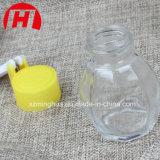 O frasco de vidro para a pimenta tempera o alimento