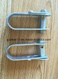 Linha eléctrica galvanizada que cabe a braçadeira elétrica do tensor da corda de fio da ferragem