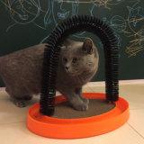 Gato Gato arco estable de masaje Cepillo Scratcher Cat Grooming Arch