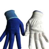 Белый Anti-Static 13G полиэстера вязаные рукавицы