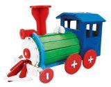 Het aangepaste Houten Materiaal schilderde 3D OnderwijsStuk speelgoed van de Baby van de Blokken van het Onderwijs van de Gift van de Auto van de Bouw van de Jonge geitjes van het Speelgoed van de Kinderen van de Producten van het Stuk speelgoed van het Raadsel DIY Promotie Houten