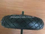 3.50-4 강철 변죽 외바퀴 손수레 타이어를 가진 고무 손수레 바퀴 타이어