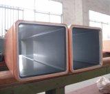 Tubo rectangular cuadrado redondo del molde del cobre de la dimensión de una variable de H para Cimm