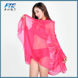 Chiffon- Frauen-Qualitäts-stufenweiser Silk Schal-Schal-langer Entwurf