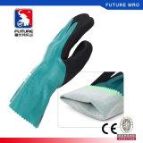 Полный нитрил покрыл перчатки предохранителя масла 26cm более длиной с Nylon удобной подкладкой