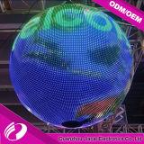 P6 étalage polychrome d'intérieur de bille de 360 degrés DEL