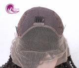 자연적인 꼬부라진을%s 가진 Remy 머리 레이스 정면 가발