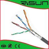 4 paires de ftp Cat5e de câble LAN avec ISO/CE/RoHS