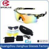 Lentille interchangeable de recyclage de lentille des lunettes de soleil 5 de sport polarisée anti par lueur de type de la jeunesse intense