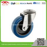 200mm Bolzenloch-blaue elastische Gummifußrolle (G104-23D200X50)
