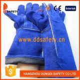 Ddsafety 2017 guantes reforzados fractura del soldador de la palma de la vaca del azul