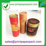 Contenitore cosmetico personalizzato di documento del cilindro con stampa di marchio