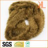 Желтый цвет зимы пряжи пера Acrylic 100% теплый/связанный Brown шарф шеи