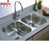 50/50 bassin de cuisine d'acier inoxydable avec le certificat de Cupc (8853)