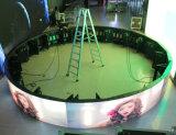 Visualización de LED a todo color de interior de la circular P3/del cilindro (diámetro de los 6m/2m)