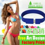 Изготовленный на заказ Eco-Friendly Wristband силиконовой резины для способа Keychain подарка