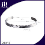 Puntada de plata simple Set Cz's Cuff
