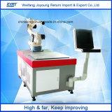 Machine rotatoire à deux positions de soudure laser