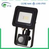 indicatore luminoso di inondazione di 30W LED con il proiettore di PIR 10-50W con illuminazione del sensore di movimento LED