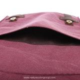 نوع خيش طالب مدرسة الحاسوب المحمول حقيبة حمولة ظهريّة مع جلد حقيقيّة