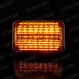 Senken Red/Blue/Amber/White IP65 24W LED Strobe Warning Light for Fire Truck & Ambulance