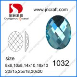 Shoes를 위한 최고 Quality Faceted Colored Decorative Special Oval Glass Beads