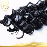 100% unverarbeitetes tiefes Wellen-Menschenhaar-Extensions-Großverkauf-Jungfrau-Peruaner-Haar