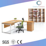 Elegant White Office Desk with Mobile Side Counts (CAS-MD18A14)