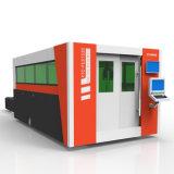 Máquina de estaca do laser da fibra (1530/3015) com a tabela selada do caso e da troca