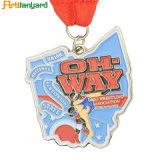 金張りによるカスタマイズされた最上質のスポーツメダル