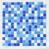 Azulejos de mosaico Mosaico de vidrio azul para piscina Material de construcción